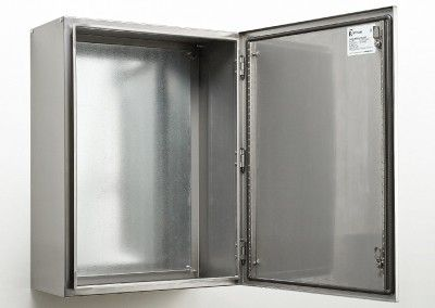 stainless steel electrical box open