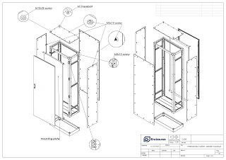 Stainless Steel Free Standing Electrical Cabinet Assembly Diagram