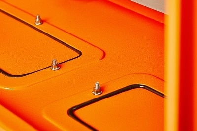 IP66 Electrical Enclosure Orange - Gland Plate Detail